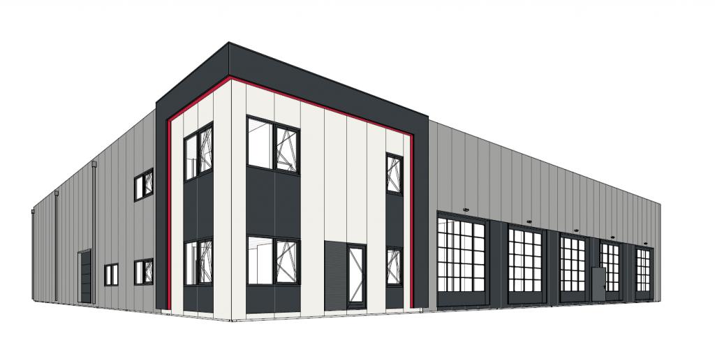 Sketch of Hartman Transport Group's development in Veenoord/Nieuw-Amsterdam